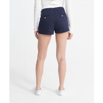 Superdry dámske krátke nohavice Chino Hot - Tmavomodrá