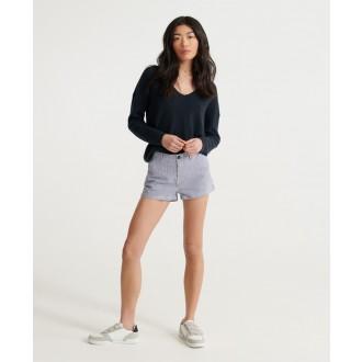 Superdry dámske krátke nohavice Chino Hot - Biela