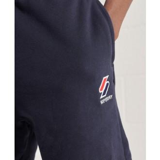 Superdry pánske teplákové kraťasy Sportstyle Essential - Tmavomodrá