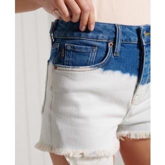 Superdry dámske riflové krátke nohavice Skinny Hot - Krémová
