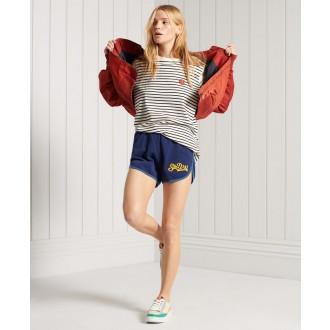 Superdry dámske teplákové krátke nohavice Collegiate Union - Modrá