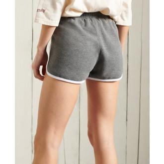 Superdry dámske teplákové krátke nohavice Collegiate Union - Tmavosivá