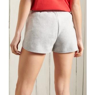Superdry dámske teplákové krátke nohavice Vintage Logo Duo - Svetlosivá