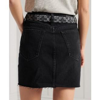 Superdry dámska riflová sukňa Denim Mini - Čierna
