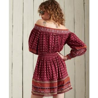 Superdry dámske šaty Amira - Červená