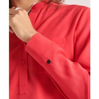 Superdry dámska blúzka Half Placket - Červená