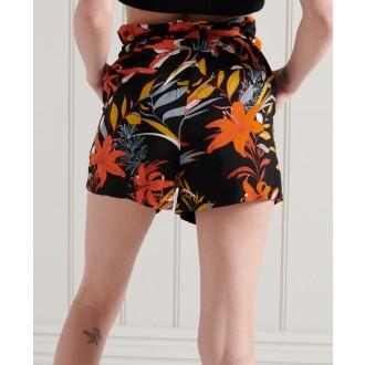 Superdry dámske krátke nohavice Printed Paperbag - Viacfarebné