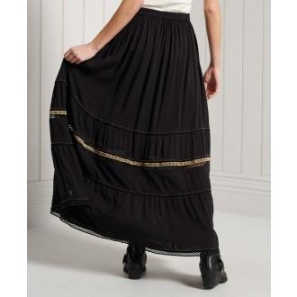 Superdry dámska sukňa Amira Maxi - Čierna