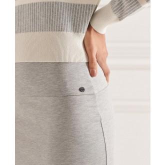Superdry dámska sukňa Classic Jersey Midi - Svetlosivá