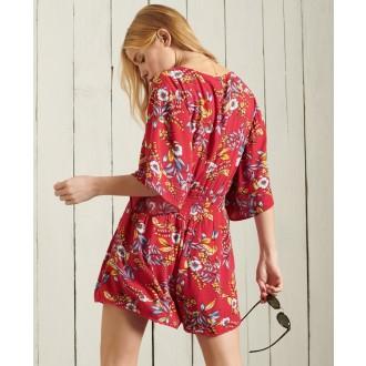 Superdry dámske plážové šaty Beach - Červená