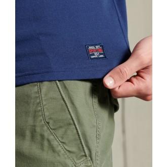 Superdry pánske tričko Collegiate Graphic Lightweight - Námornícka modrá
