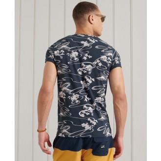 Superdry pánske tričko Limited Edition Pocket - Námornícka modrá