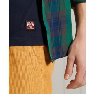 Superdry pánske tričko Vintage Logo Chenille Standard Weight - Tmavomodrá