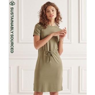 Superdry dámske šaty Drawstring - Zelená