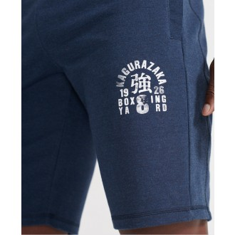 Superdry pánske teplákové kraťasy Training Boxing Yard - Námornícka modrá