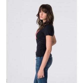 Retrojeans dámske tričko RANI - Čierna