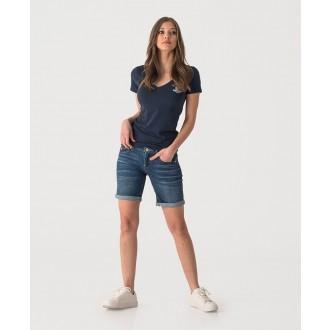 Retrojeans dámske tričko HAZEL - Tmavomodrá