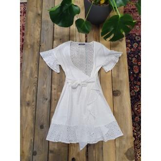 Retrojeans dámske šaty BELAZZA - Biela