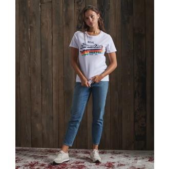 Superdry dámske tričko Vintage Logo - Biela