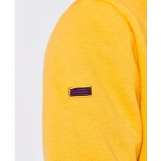 Superdry pánska mikina Vintage Logo Embroidered Zip - Žltá