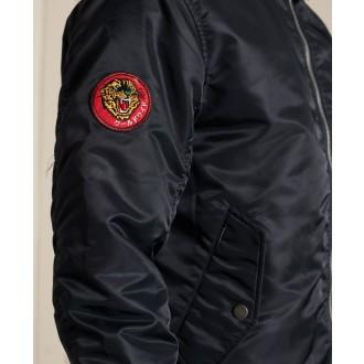 Superdry pánska bunda MA1 Hooded Bomber - Tmavomodrá