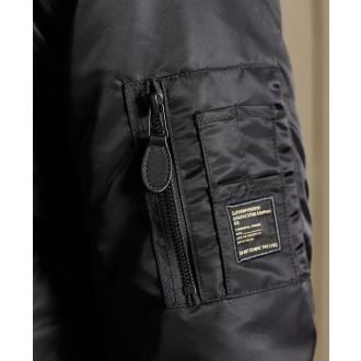 Superdry pánska bunda MA1 Hooded Bomber - Čierna