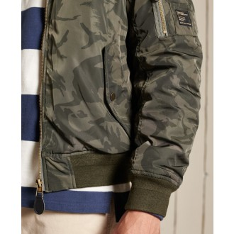 Superdry pánska bunda MA1 Hooded Bomber - Zelená