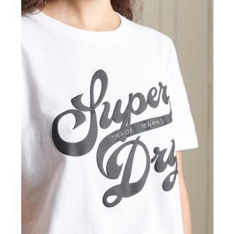 Superdry dámske tričko Black Out - Biela