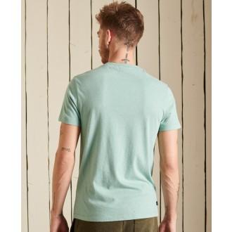 Superdry pánske tričko Organic Cotton Vintage Logo Embroidered - Tyrkysová