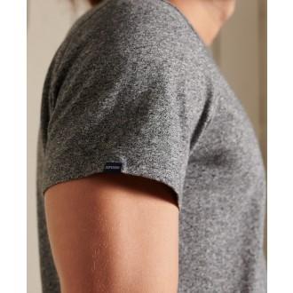 Superdry pánske tričko Organic Cotton Vintage Logo Embroidered - Tmavosivá