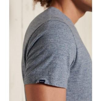 Superdry pánske tričko Organic Cotton Vintage Logo Embroidered - Modrá