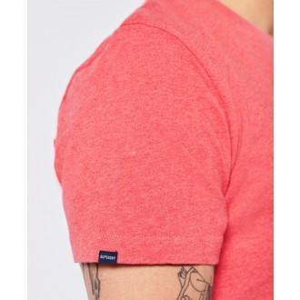 Superdry pánske tričko Organic Cotton Vintage Logo Embroidered - Lososová