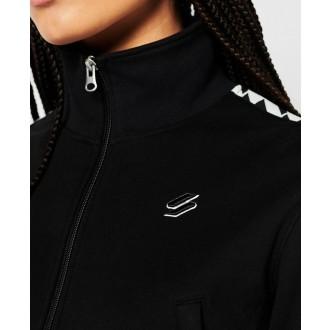 Superdry dámska bunda Code Tape Track Jacket - Čierna