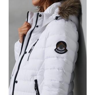 Superdry dámsky zimný kabát Super Fuji Jacket - Biela