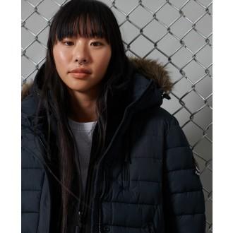 Superdry dámsky zimný kabát Super Fuji Jacket - Tmavomodrá