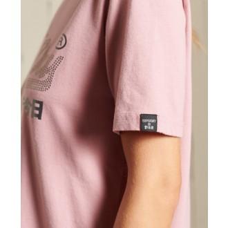 Superdry dámske tričko Vl Boho Sparkle - Ružová