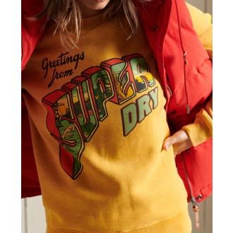Superdry dámska mikina Heritage Mountain - Žltá