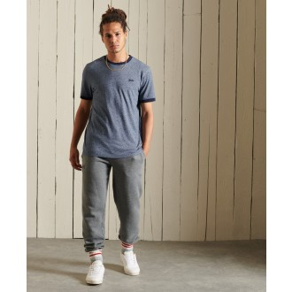 Superdry pánske tričko Organic Cotton Vintage Ringer - Modrá