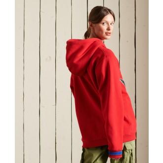 Superdry dámska mikina Collegiate - Červená