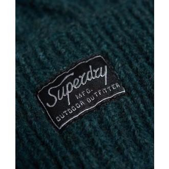 Superdry dámska čiapka Cable Lux - Zelená