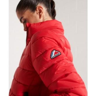 Superdry dámska zimná bunda Fuji Bomber - Červená