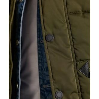 Superdry pánska bunda Chinook Parka 2.0 - Zelená