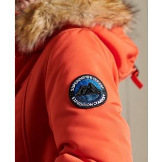 Superdry dámska zimná bunda Everest Parka - Oranžová