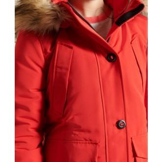 Superdry dámska zimná bunda Everest Parka - Červená