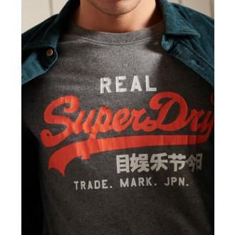 Superdry pánske tričko Vintage Logo American - Sivá