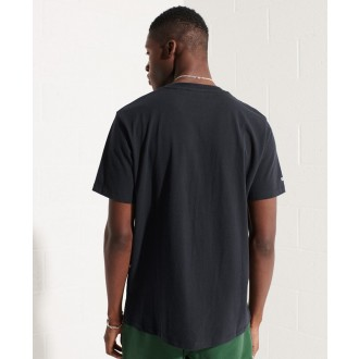 Superdry pánske tričko Sportstyle Logo Che - Námornícka modrá