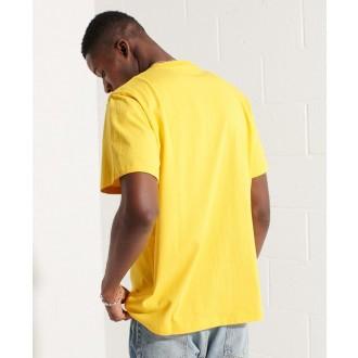 Superdry pánske tričko Sportstyle Logo Che - Žltá