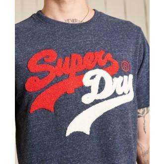 Superdry pánske tričko Vintage Logo Source - Modrá