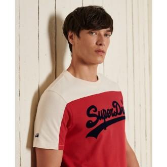 Superdry pánske tričko Vintage Logo Ac Colour block - Červená