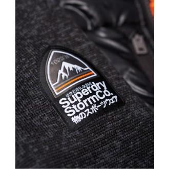 Superdry pánska mikina Storm Hybrid Zip - Tmavosivá